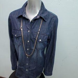 G. H. Bass & Co Denim Button Down Shirt